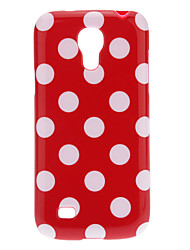 Belle couverture Polka Dot TPU Skin pour Samsung Galaxy S4 Mini I9190