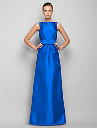 TS Couture® Formal Evening / Military Ball Dress - Ocean Blue Plus Sizes / Petite Sheath/Column Bateau Floor-length Taffeta