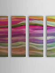 Stretched Canvas Art Abstract Juxtaposition by Mindy Sommers Set of 4