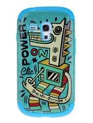 Cockhorse Pattern Detachable TPU and Plastic Back Cover Case for Samsung Galaxy S3 Mini I8190