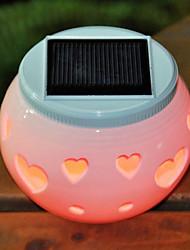 Hearts Pattern Hollowed-Out LED Solar Powered Garden Light -Solar Table Light- Solar Small Night Light In Jar Design