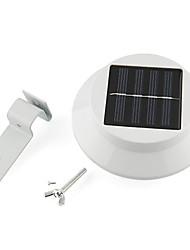Gouttière lumière cour lampe 3-LED à énergie solaire de la clôture extérieure de mur de jardin de la voie