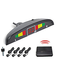 4 Wireless Radar Parking Sensor System- Led Display And  Buzzer Alarm (White,Black,Silver)