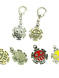 Mehre Accessoires Inspiriert von One Piece Trafalgar Law Anime Cosplay Accessoires Schlüsselanhänger Rot / Gelb / Gold / Silber Legierung