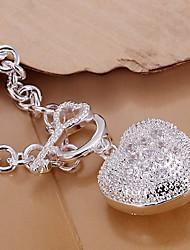 Lknspch062 Pulseira pedra incrustada coração Colher Para