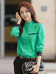 Women's Plus Size Contrast Color Piping Shirt
