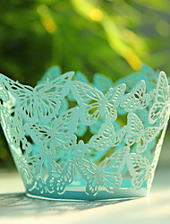 Butterfly Laser Cut Cupcake Wrapper- Set of 12 (More Colors)