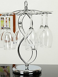 "35cm Height Creative Iron Wine Rack In ""8"" Shape"