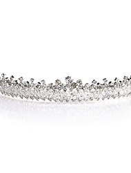 Women's Rhinestone / Alloy Headpiece-Wedding / Special Occasion Tiaras Silver