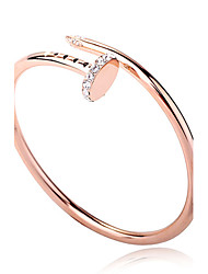 2013 Fashion jewelry 18k rose gold plated A nail screw titanium bangle for women