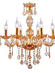 Golden Color E14*6 Model Chandeliers Fashion Crystal Pendant Lamp