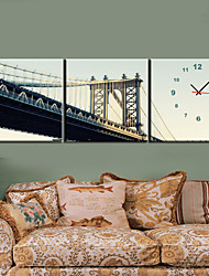 """12 """"-24"""" Country Style Città Orologio da parete in tela 3pcs"""
