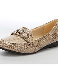 Cómodo cuero talón plano holgazanes de los zapatos (más colores)