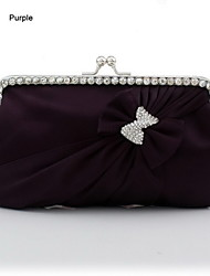 Silk Shell With Rhinestone/ Bowknot Evening Handbags/ Clutches More Colors Available