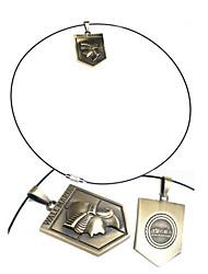 Нападение на Titan записи Мария Бронзовая легированный Ожерелье