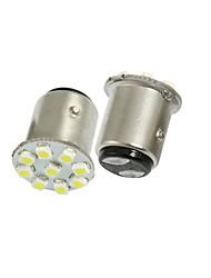 2 Stück Auto 1157 BAY15D Bajonett weiß 1210 SMD 9 LED-Rückbremslichtlampe Lampe