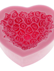 Silicone Cake Mold Bake ware Decorating Gum Paste Clay Soap Mold Rose Shaped (1pcs)