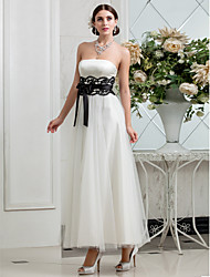 Lanting Bride® A-line Petite / Plus Sizes Wedding Dress - Classic & Timeless / Glamorous & Dramatic / Reception Fall 2013 Ankle-length