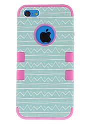 2-in-1 Fresh Design cas dur de modèle de courbe avec silicone à l'intérieur pour iPhone 5/5S