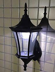 6PCS bianco LED Solar Light Wall luci da giardino