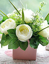Poliéster Camellia Flores Artificiales