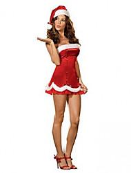 Bonito Ruffles Christmas Costume da Mulher