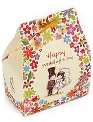 """""""Jour de mariage heureux"""" boîte de faveur - ensemble de 24"""