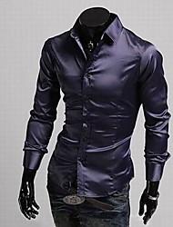 VSKA Men's Bright Face Leisure Fit Long Sleeve Shirt