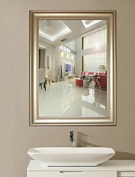 "27.5""White Yogon Design Brief Style Polyresin Wall Mirror"