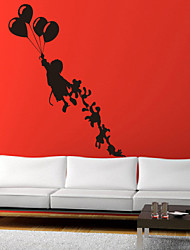People Flying with Toys Wall Stickers