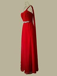 Cuatro árboles de temporada de un hombro vestido de dama de honor palabra de longitud (Modelo del diamante al azar)
