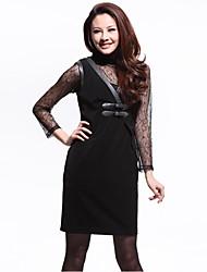 Women's Dresses , Polyester/Spandex Casual Unifo Show