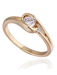 KU NIU Women's Gold Plating Zircon Ring J27025