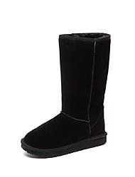 Black Suede antideslizantes calientes botas de algodón de ZAWA Niños
