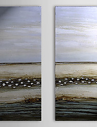 Hand Painted Oil Painting Abstract Coast with Stretched Frame Set of 2 1311-AB1050