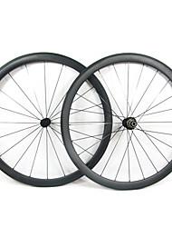 Farsports-700c carretera 38mm Full Carbon Tubular Carretera Ruedas de bicicletas
