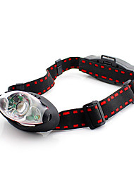 GD15 2-Mode Cree XP-G R2 + 2xLED Headlamp (1x18650, Black+Red)