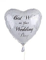 décoration de mariage coeur métallique ballon - meilleurs voeux sur votre journée