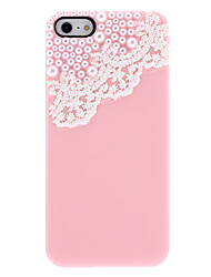 Simple Design Lace and Pearls Covered Hard Case with Nail Adhesive for iPhone 5/5S (Assorted Colors)