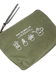 Algodón y lino Ejército Verde Flor Monedero