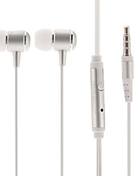 iP650 Hi-fi Stereo Music with Mic In-Ear Earphone Silver