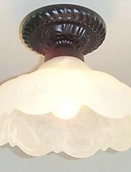 fiore-come montaggio a filo, 1 luce, vetro pittura tradizionale bianco