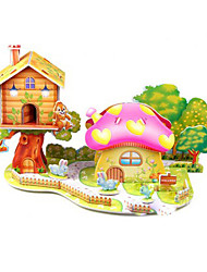 3D Red Mushroom House Puzzles