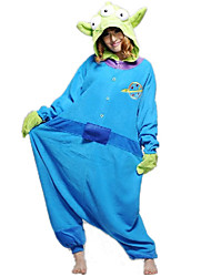 Kigurumi Pajamas Monster Leotard/Onesie Halloween Animal Sleepwear Green / Blue Solid Polar Fleece Kigurumi Unisex Halloween