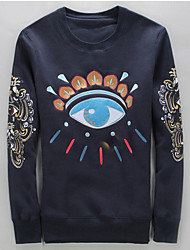 Men's Eye Print Casual Hoodie T-shirt