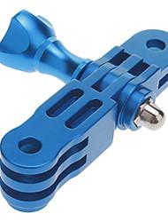 Aluminum Mount 3-way Pivot Arm extension &1 knob screw nut for GoPro Hero 2/3 Blue