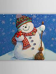Stretched Canvas Print Art Christmas Snowman