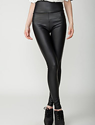 Women Legging , PU Medium