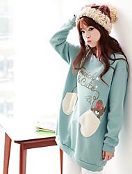 Maternity Langarm-Bär Taschen Sweater