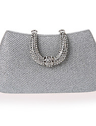 XIU Mode-stilvollen Diamanten verziert Crystalevening / Clutch-Bag (Silber)